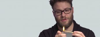 Seth Rogen teaches everyone how to roll a joint